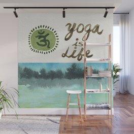 Yoga is Life - Art - Painting - Watercolor Prints - Wall Mural