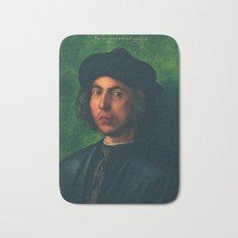Portrait of a Young Man by Albrecht Dürer Bath Mat