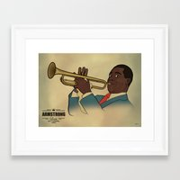 louis armstrong Framed Art Prints featuring Louis Armstrong by Borja Espasa