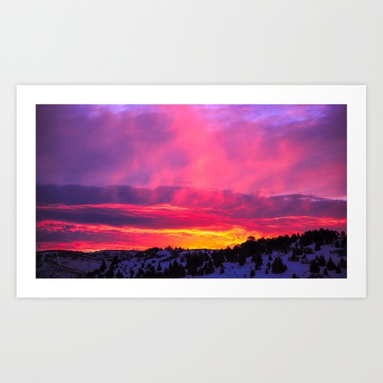 Sunset over the Artic Art Print