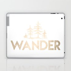 Wander Quote White Gold Laptop & iPad Skin
