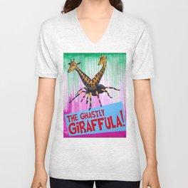 The Ghastly Giraffula! Unisex V-Neck