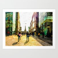 shopping Art Prints featuring Shopping  by NCP Photography