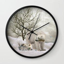 Awesome polar bear Wall Clock