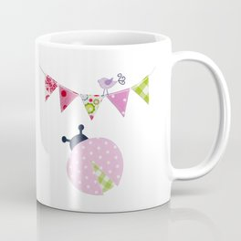 Ladybug with party flags Coffee Mug