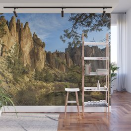 Cool Formations of Smith Rock in Morning Light Wall Mural
