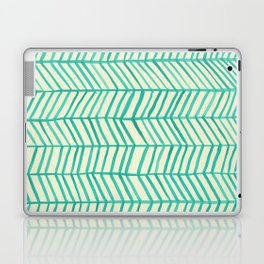 Mint Herringbone Laptop & iPad Skin