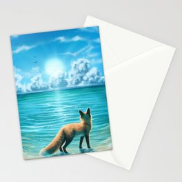 Caribbean Blue Stationery Cards