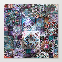 Celestial Tile Pattern Canvas Print