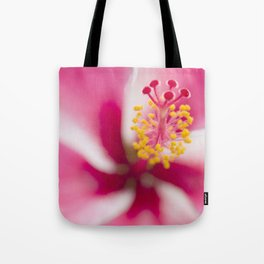 Tropical flower art (Pink hibiscus) Tote Bag