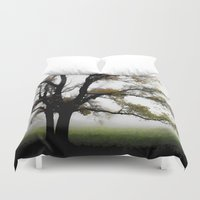 alone Duvet Covers featuring Alone by Nev3r
