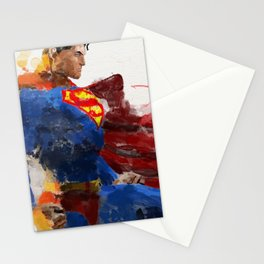 Watercolour Superman Stationery Cards