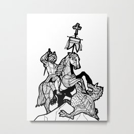 Berlin-Dragonslayer2 Metal Print
