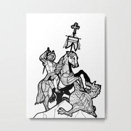 Berlin-Dragonslayer2 Metal Print