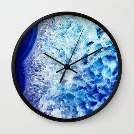 Gemstone Crystal Geode Wall Clock