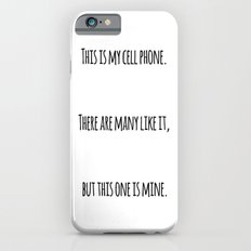 Cell Phone Cover White iPhone 6s Slim Case
