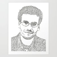 john green Art Prints featuring John Green by S. L. Fina