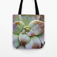 succulent Tote Bags featuring Succulent by Lindsay Faye