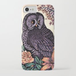 Great Grey Owl At Sunset iPhone Case
