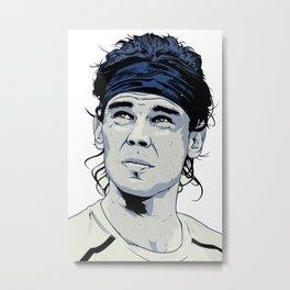 Rafael Nadal Illustrations Art Metal Print
