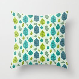 Trees pattern Throw Pillow