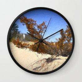 Beach view of Lighthouse Wall Clock