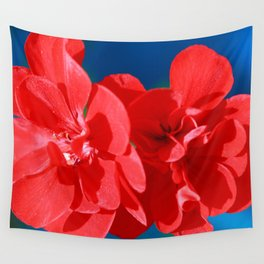 Red garden flowers Wall Tapestry