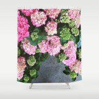 hydrangea Shower Curtains featuring Hydrangea  by Chelsea Victoria