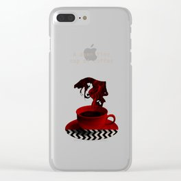 """Twin Peaks"" - A damn fine cup of coffee Clear iPhone Case"