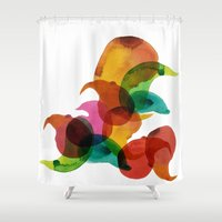runner Shower Curtains featuring Spoffish runner by Natrosavron