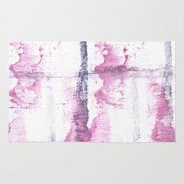 Lavender blush vague watercolor Rug