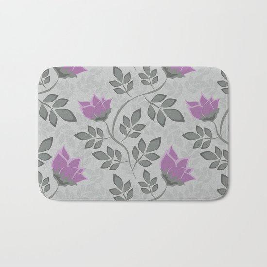 Liana purple flowers . Bath Mat