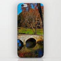 battlefield iPhone & iPod Skins featuring Burnside Bridge Antietam Battlefield by Biff Rendar