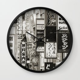 Signs of Tokyo Wall Clock