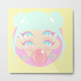 Four Eyes - Bubble Gum Metal Print