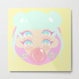 Four Eyes - Bubble Gum Metal Print
