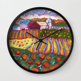 Iowa Landscape Wall Clock