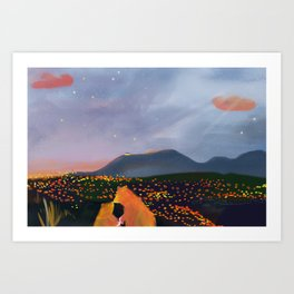 Coming Back Art Print