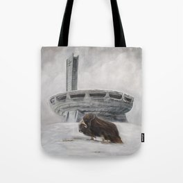 The Lone Musk Ox Tote Bag