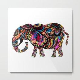 Multi-colored Metal Print