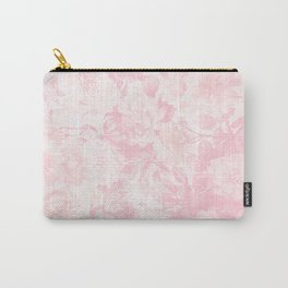 Vintage blush pink baby yellow roses flowers Carry-All Pouch