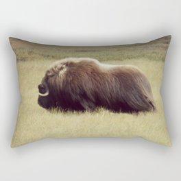 Muskox on the move \ wildlife Rectangular Pillow