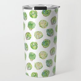 Brussel Sprouts Pattern Travel Mug
