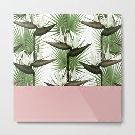 Strelitzia Tropical Rose Metal Print