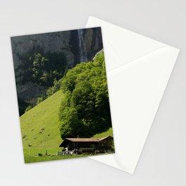 Farm in Lauterbrunnen Stationery Cards