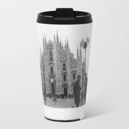 Milan in Black & White Travel Mug