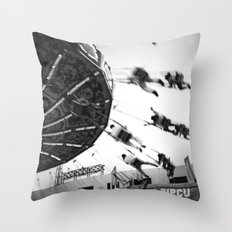 At the Fair: The Swings Throw Pillow