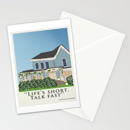 Life's short, talk fast! Stationery Cards