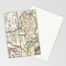 Vintage Map of Africa (1710) Stationery Cards