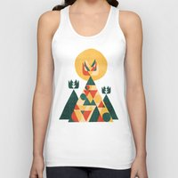 sunset Tank Tops featuring Sunset Tipi by Picomodi